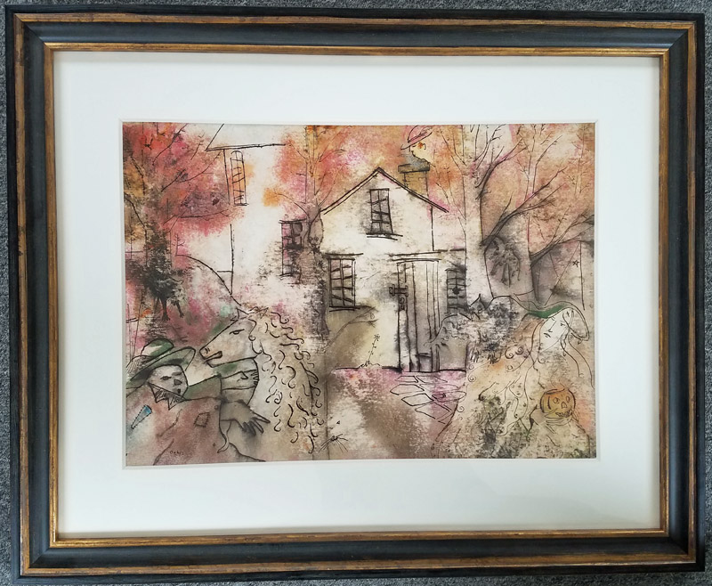 Charles Wilder Oakes - This Old Place - Watercolor $6,500.