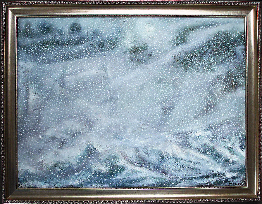 Charles Wilder Oakes - Nor'Easter at Roaring Spout - Oil on Canvas $4,800.